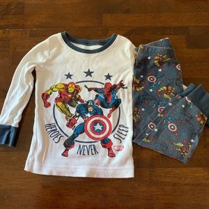 Little boys superhero PJs
